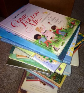 A stack of wonderful fairy stories ready for story time!