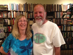Dragonfly author Kathy Biggs and husband Dave Biggs at 9/2/2015 Booksigning