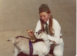 Me and my goat Marmalade 2