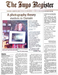 Judyth Greenburgh's article about photo on exhibit at the Louvre  October 2015